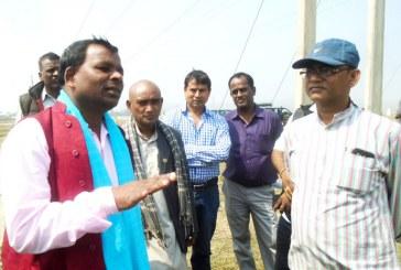 सिंचाई मन्त्री यादवद्वारा सप्तरीका नदीहरुको निरीक्षण