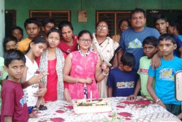 बाल कल्याण गृहमा नायिका डोलीले मनाईन् जन्मदिन