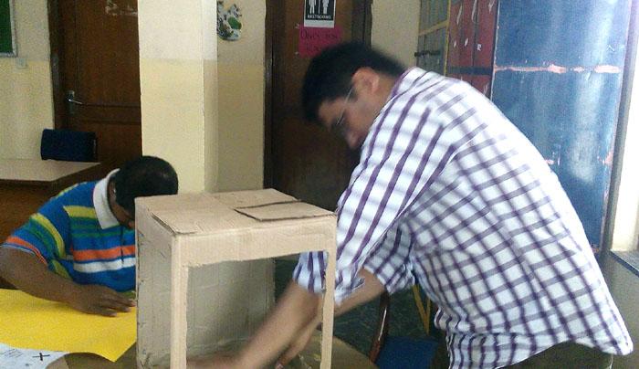 जेवियर इन्टरनेशनल स्कुलमा पनि चुनावको चहलपहल