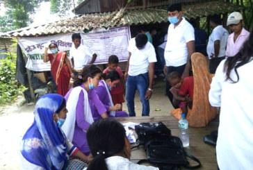 दहेजमुक्त मिथिलाद्वारा मैनाकडेरीमा निःशुल्क स्वास्थ्य शिविर