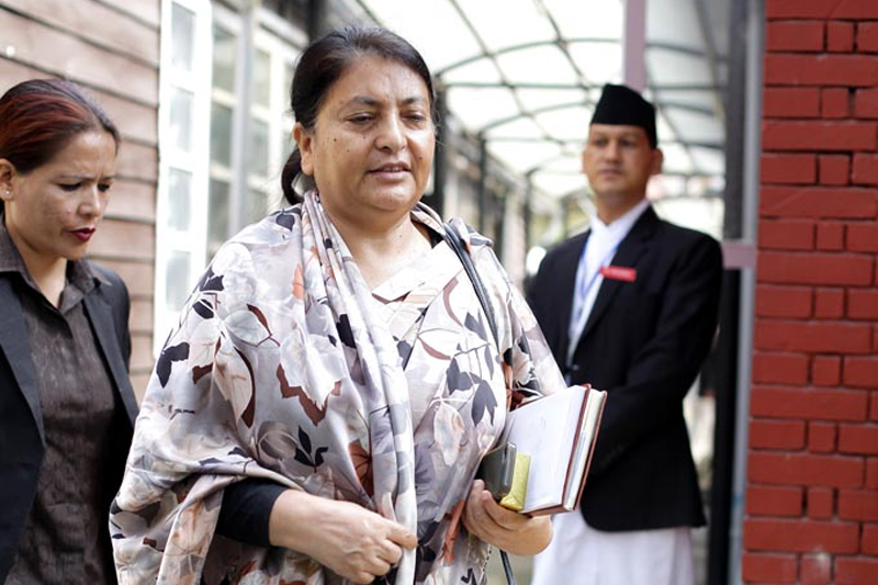 विद्या भण्डारी प्रथम महिला राष्ट्रपति